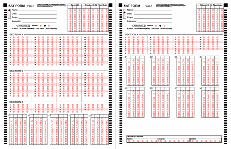 graphic relating to Printable Scantron Form identified as Resolution Sheets BubbleScan
