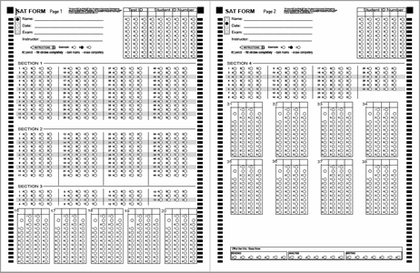 photograph about Printable Answer Sheet titled Alternative Sheets BubbleScan